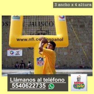 renta de Porteria Inflable Futbol Americano Y naucalpan