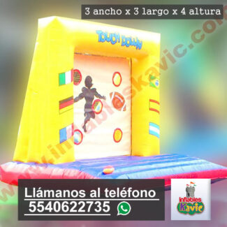 renta de juego Inflable Touch Down naucalpan
