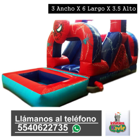 renta de juego inflable acuatico-del-hombre araña | inflables kavic