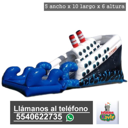 renta de juego inflable acuatico | barco titanic naucalpan | Inflables Kavic