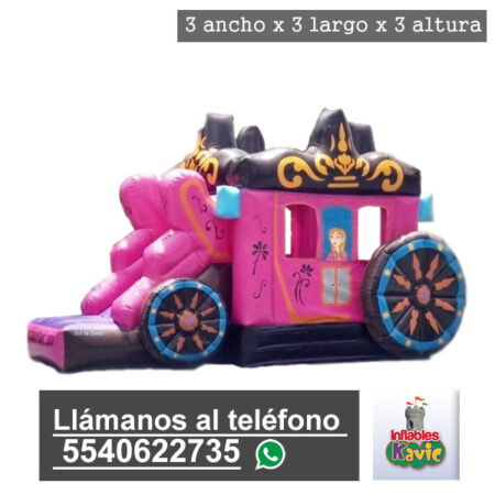 renta de juego inflable carruaje de princesas naucalpan   Inflables Kavic