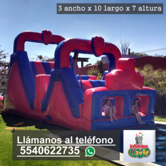 renta de juego inflable mega obstaculos naucalpan | Inflables Kavic