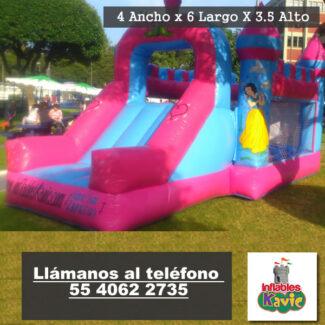 02 Renta de juego inflable Mega-Castillo de Princesas de disney
